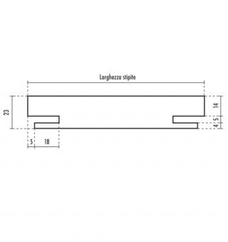 Stipiti di compensazione - 23 mm fresature UNI